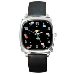 Planets Space Square Metal Watch by Mariart