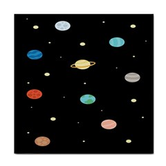 Planets Space Face Towel by Mariart
