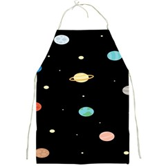 Planets Space Full Print Aprons by Mariart