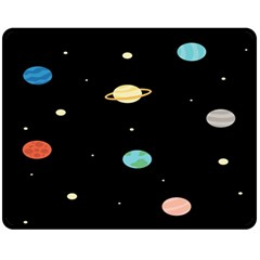 Planets Space Fleece Blanket (medium)  by Mariart