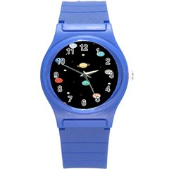 Planets Space Round Plastic Sport Watch (s) by Mariart