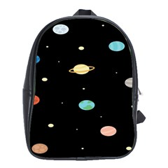 Planets Space School Bags (xl)  by Mariart