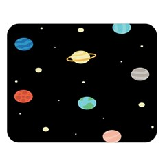 Planets Space Double Sided Flano Blanket (large)  by Mariart