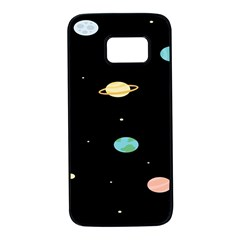 Planets Space Samsung Galaxy S7 Black Seamless Case by Mariart