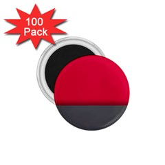 Red Gray Flag Line Horizontal 1 75  Magnets (100 Pack)