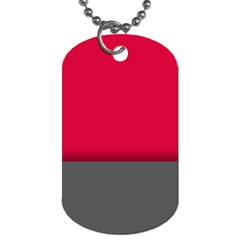 Red Gray Flag Line Horizontal Dog Tag (two Sides) by Mariart