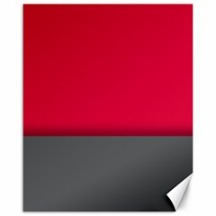 Red Gray Flag Line Horizontal Canvas 16  X 20   by Mariart