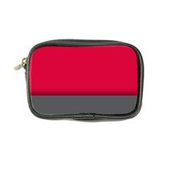 Red Gray Flag Line Horizontal Coin Purse by Mariart