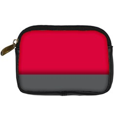 Red Gray Flag Line Horizontal Digital Camera Cases by Mariart