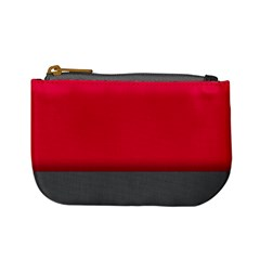 Red Gray Flag Line Horizontal Mini Coin Purses