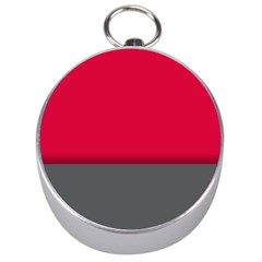 Red Gray Flag Line Horizontal Silver Compasses by Mariart