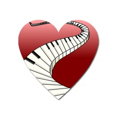 Piano Keys Music Heart Magnet by Mariart