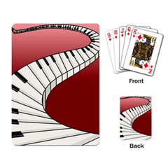 Piano Keys Music Playing Card by Mariart