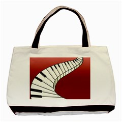 Piano Keys Music Basic Tote Bag (two Sides) by Mariart