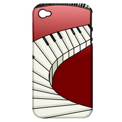 Piano Keys Music Apple Iphone 4/4s Hardshell Case (pc+silicone) by Mariart