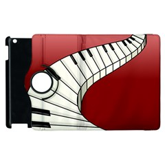 Piano Keys Music Apple Ipad 3/4 Flip 360 Case by Mariart