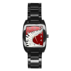 Piano Keys Music Stainless Steel Barrel Watch by Mariart