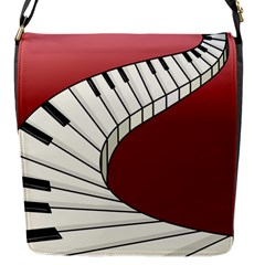 Piano Keys Music Flap Messenger Bag (s) by Mariart