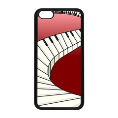 Piano Keys Music Apple Iphone 5c Seamless Case (black) by Mariart