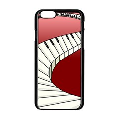 Piano Keys Music Apple Iphone 6/6s Black Enamel Case by Mariart