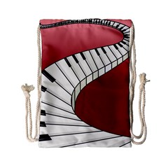 Piano Keys Music Drawstring Bag (small) by Mariart