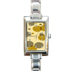 Polka Dots Rectangle Italian Charm Watch by Mariart