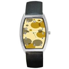 Polka Dots Barrel Style Metal Watch by Mariart