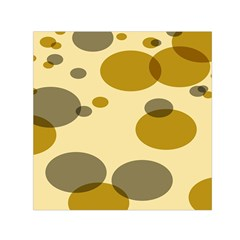 Polka Dots Small Satin Scarf (square) by Mariart