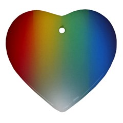 Rainbow Flag Simple Ornament (heart) by Mariart