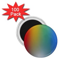 Rainbow Flag Simple 1 75  Magnets (100 Pack)  by Mariart