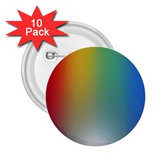 Rainbow Flag Simple 2 25  Buttons (10 Pack)