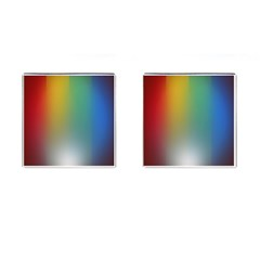 Rainbow Flag Simple Cufflinks (square) by Mariart