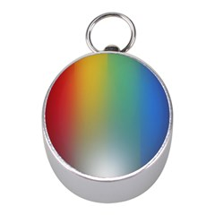 Rainbow Flag Simple Mini Silver Compasses by Mariart