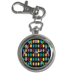 Polka Dots Rainbow Circle Key Chain Watches by Mariart