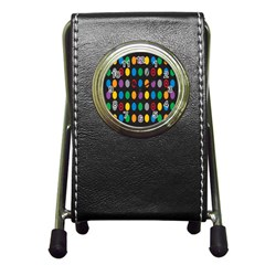 Polka Dots Rainbow Circle Pen Holder Desk Clocks by Mariart