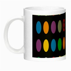 Polka Dots Rainbow Circle Night Luminous Mugs by Mariart