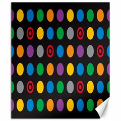 Polka Dots Rainbow Circle Canvas 20  X 24   by Mariart