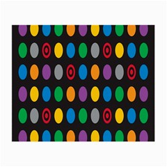 Polka Dots Rainbow Circle Small Glasses Cloth (2-side) by Mariart
