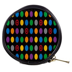 Polka Dots Rainbow Circle Mini Makeup Bags by Mariart