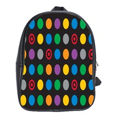 Polka Dots Rainbow Circle School Bags(large)  by Mariart