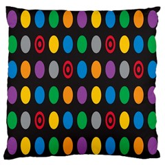 Polka Dots Rainbow Circle Large Cushion Case (two Sides) by Mariart