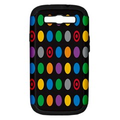 Polka Dots Rainbow Circle Samsung Galaxy S Iii Hardshell Case (pc+silicone) by Mariart