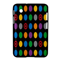 Polka Dots Rainbow Circle Samsung Galaxy Tab 2 (7 ) P3100 Hardshell Case  by Mariart