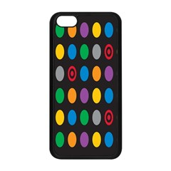 Polka Dots Rainbow Circle Apple Iphone 5c Seamless Case (black) by Mariart