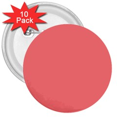 Coral Solid Color  3  Buttons (10 Pack)  by SimplyColor
