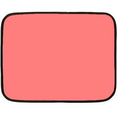 Coral Solid Color  Fleece Blanket (mini) by SimplyColor