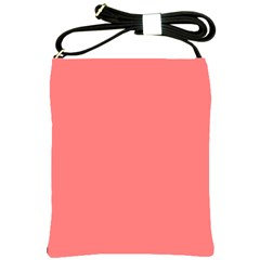 Coral Solid Color  Shoulder Sling Bags by SimplyColor
