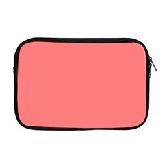 Coral Solid Color  Apple Macbook Pro 17  Zipper Case by SimplyColor