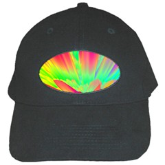 Screen Random Images Shadow Green Yellow Rainbow Light Black Cap by Mariart