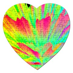 Screen Random Images Shadow Green Yellow Rainbow Light Jigsaw Puzzle (heart) by Mariart